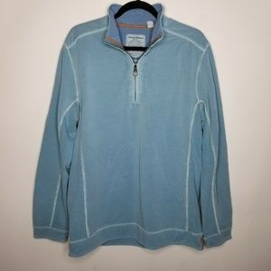 TOMMY BAHAMA Island Crafted HALF ZIP SWEATER AN M